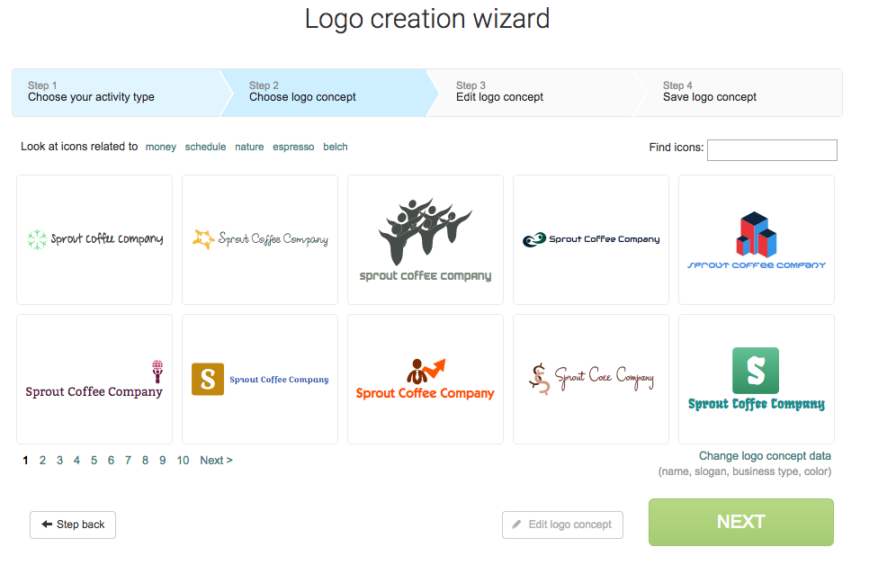logaster screenshot