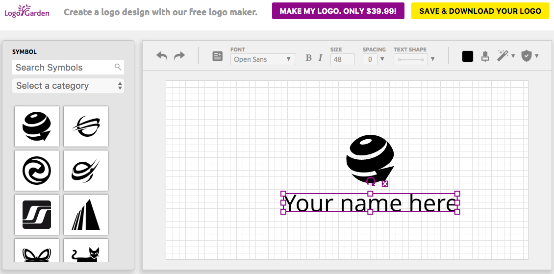 create logo for free and download for free