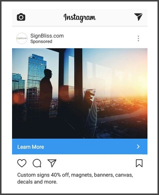 signbliss instagram ads example