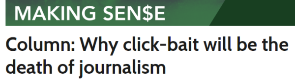 Why Clickbait Will be the Death of Journalism