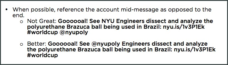 NYU social media style guide