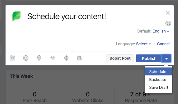 facebook native scheduler