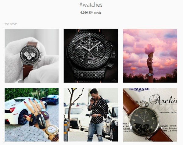 instagram watches search