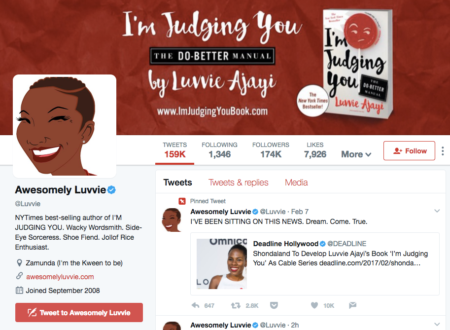 title  The Ultimate Guide to Personal Branding luvvie twitter