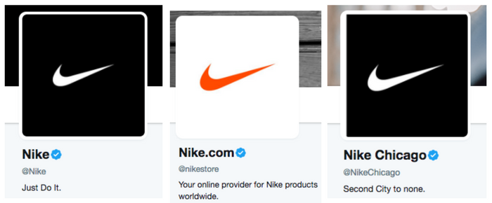 nike twitter profiles