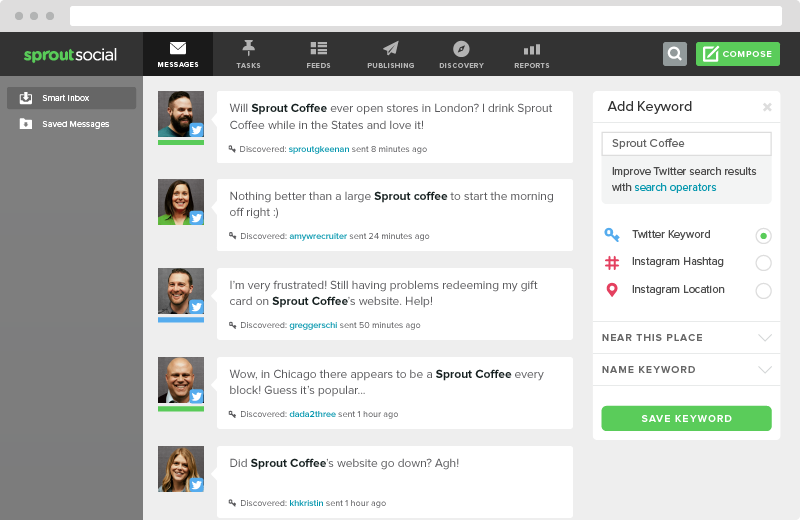 sprout social smart inbox  11 Tips & Tactics for Expert-Level Social Selling smart inbox monitoring keyword2
