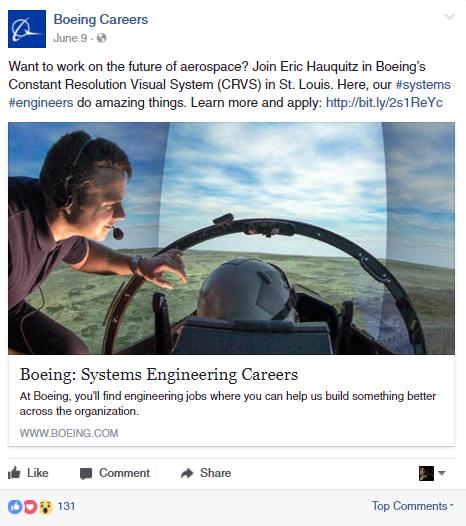 Boeing job posting