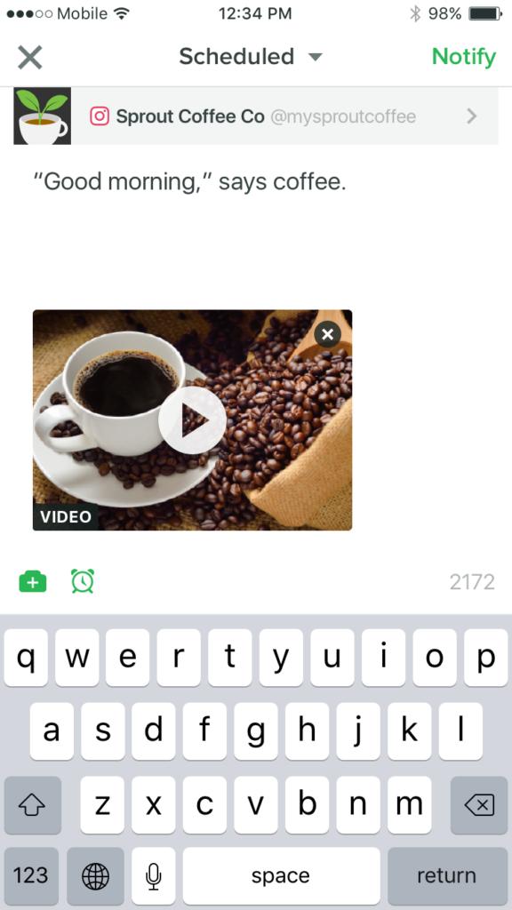 Instagram Video - Mobile