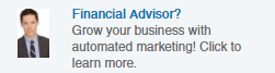 financial advisor linkedin ad