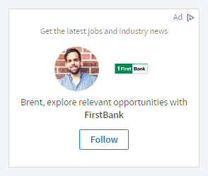 linkedin follow company ad