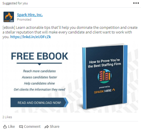 spark hire linkedin ad  The Complete Guide to LinkedIn Ads Lead Magnet