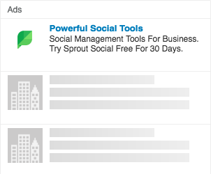 sprout social linkedin text ad