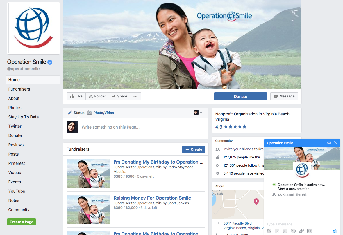 Operation Smile Facebook graphic