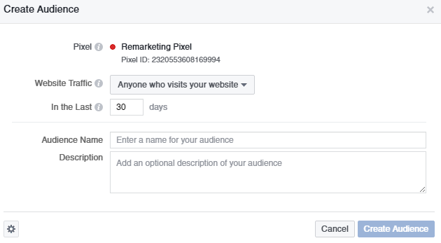 Retargeting Pixel in Facebook