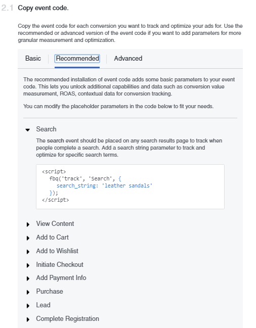 Facebook Pixel event codes  A Quick & Comprehensive Guide to Facebook Remarketing Facebook Pixel 7