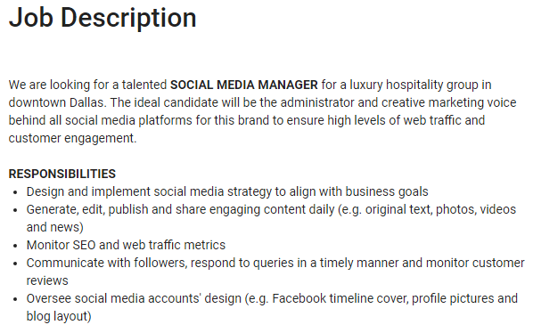 Monster Social Media Manager Position