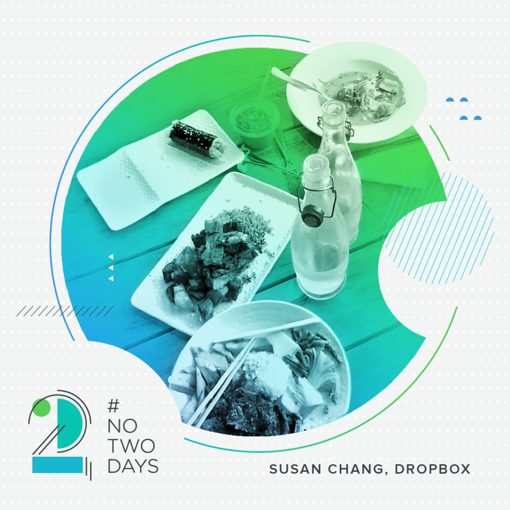 Lunch at Dropbox.  #NoTwoDays: A Day in the Life of Susan Chang of Dropbox NoTwoDays SusanChang 04