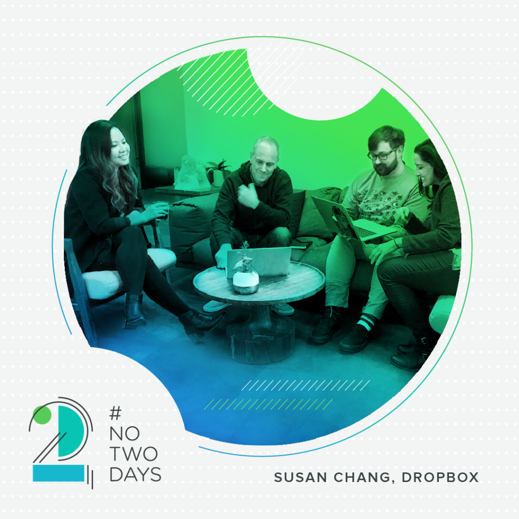 Chance meetings happen regularly at Dropbox!  #NoTwoDays: A Day in the Life of Susan Chang of Dropbox NoTwoDays SusanChang 07