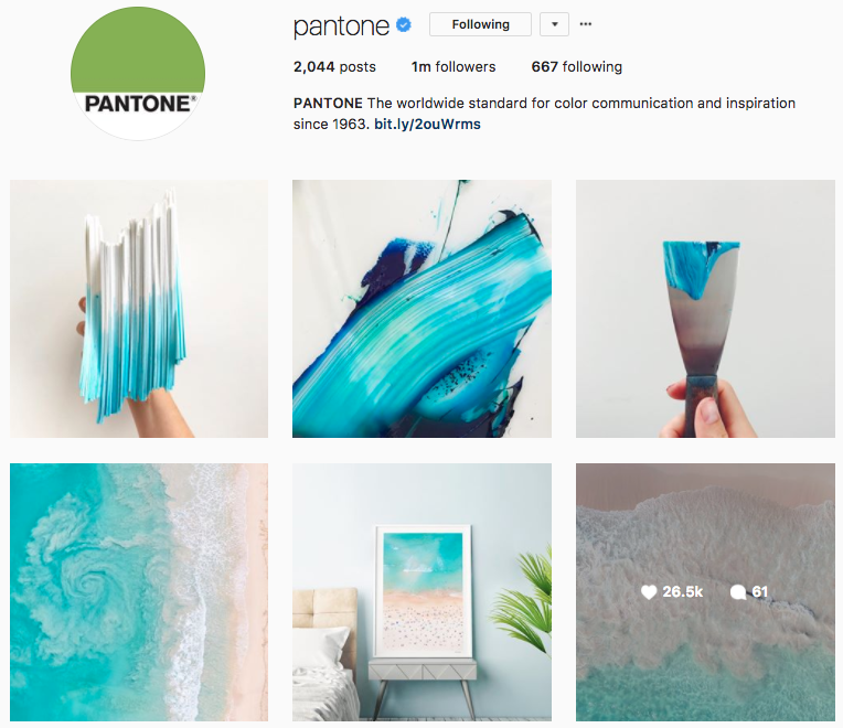 pantone instagram feed  How to Create an Instagram Marketing Strategy Screen Shot 2017 08 28 at 4