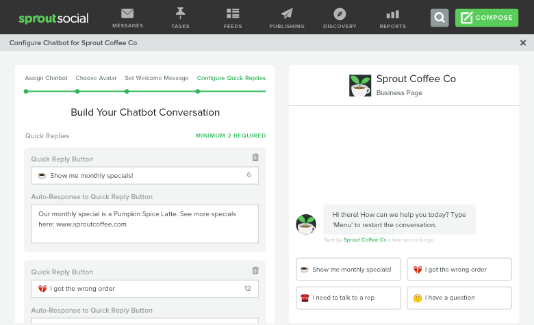 build chatbot conversation