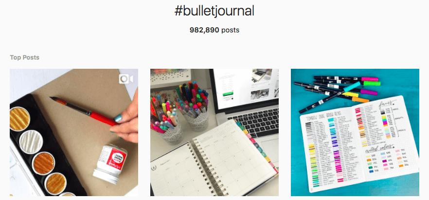 bulletjournal hashtag