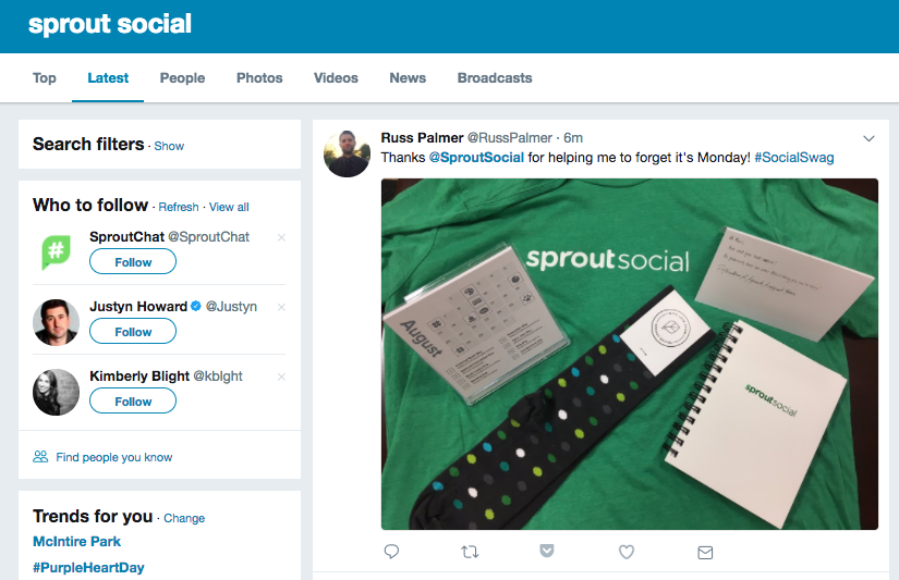 sprout social twitter search