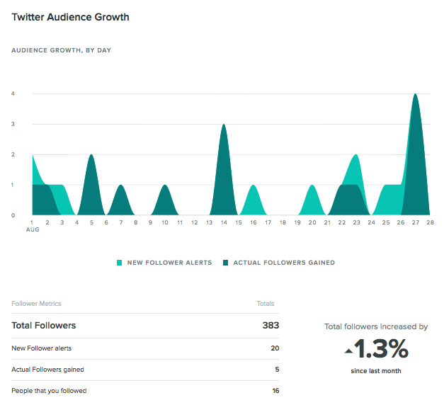 twitter audience growth report