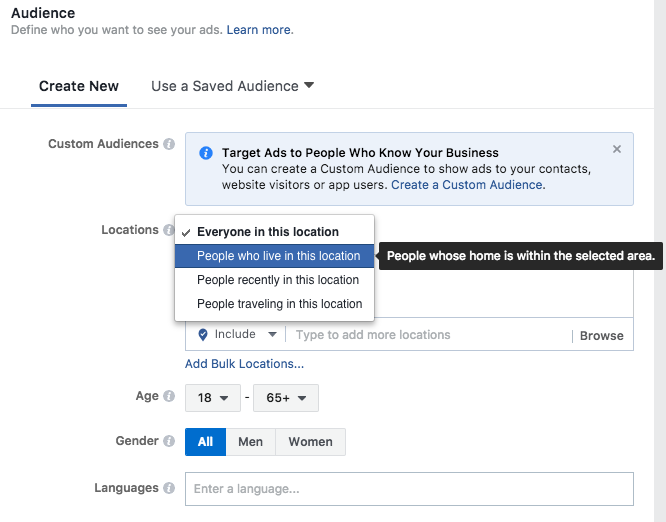 facebook ad audience example  7-Step Social Media Advertising Strategy to Better Performing Ads Screen Shot 2017 09 28 at 3