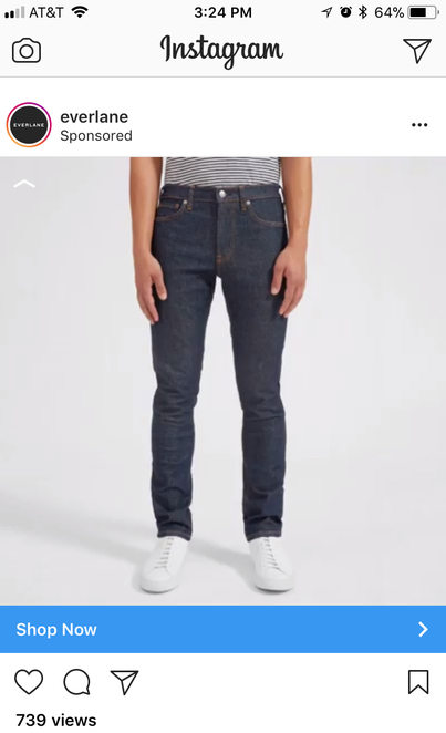 everlane instagram example