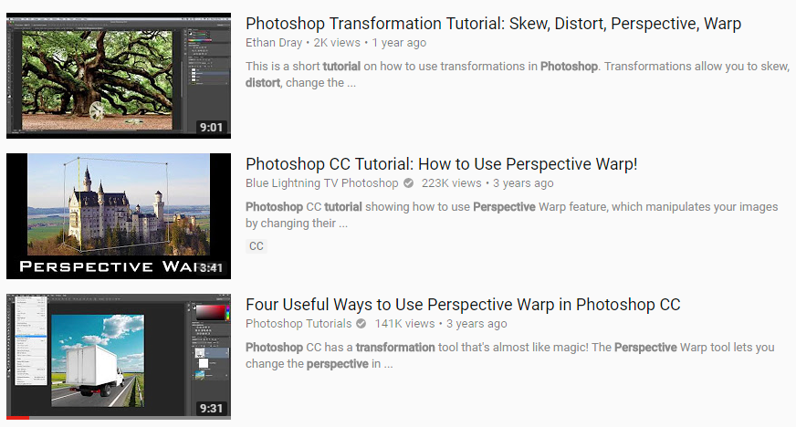 YouTube optimized titles for Photoshop tutorials