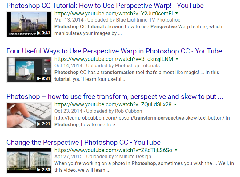 Example of YouTube title cutoff in Google