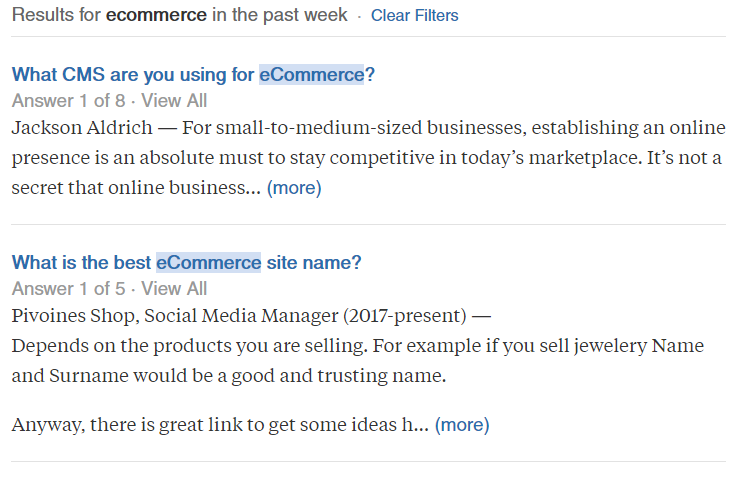 Quora is a great place to learn about your target audience