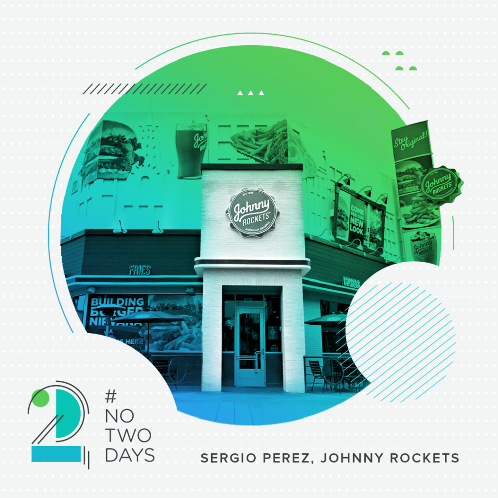 #NoTwoDays: A Day in the Life of Sergio Perez of Johnny Rockets SergioPerez NoTwoDays Location