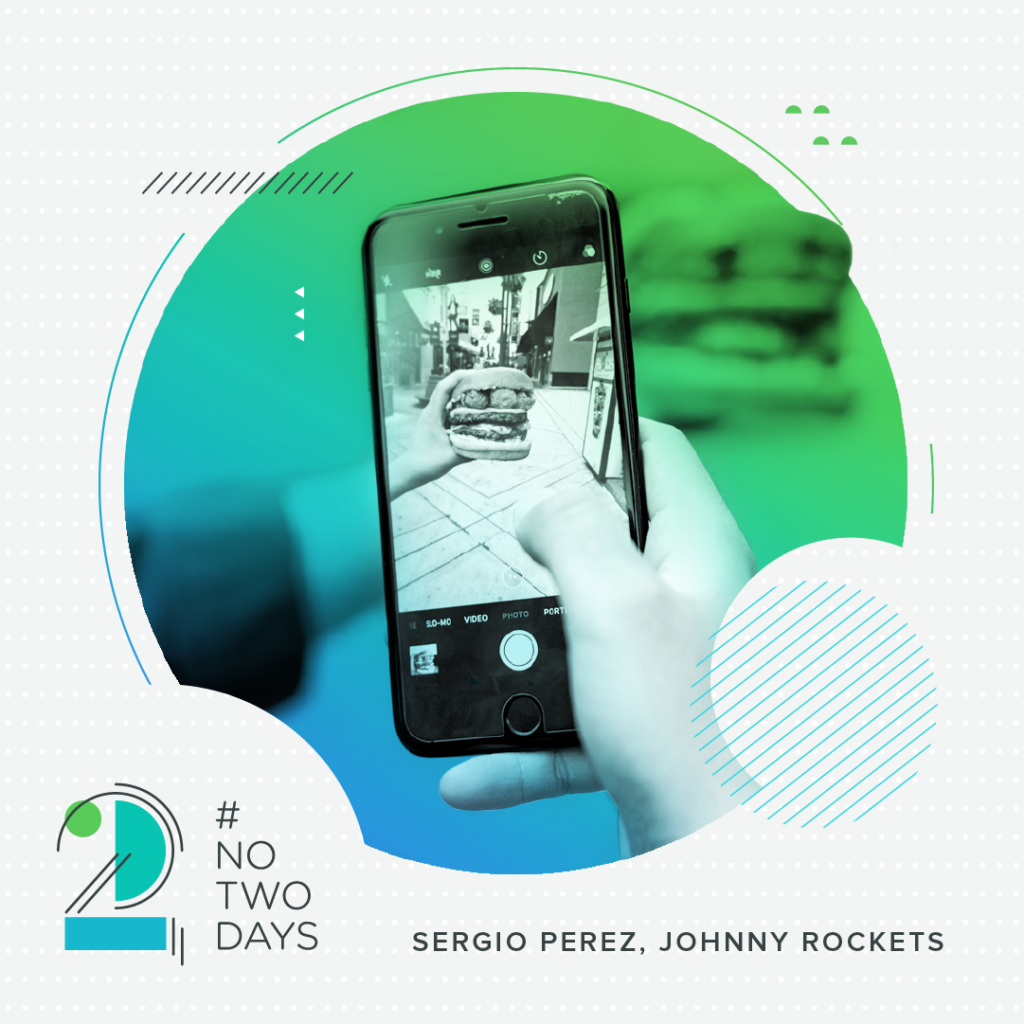 #NoTwoDays: A Day in the Life of Sergio Perez of Johnny Rockets SergioPerez NoTwoDays Phone