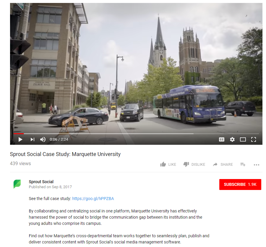 Sprout Case study video optimized for YouTube