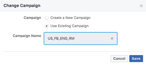facebook ads naming example