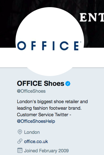 officeshoes twitter bio