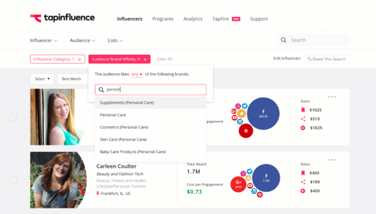 tapinfluence  8 of the Best Social Media Analytics Tools of 2017 tapinfluence