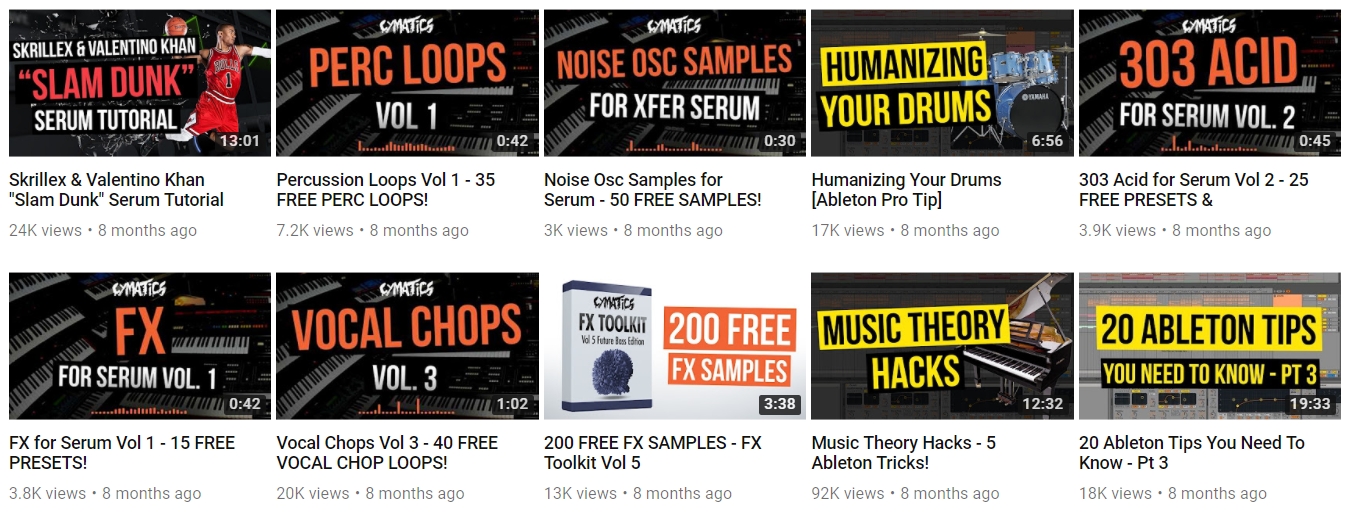 YouTube optimized thumbnails w/ color