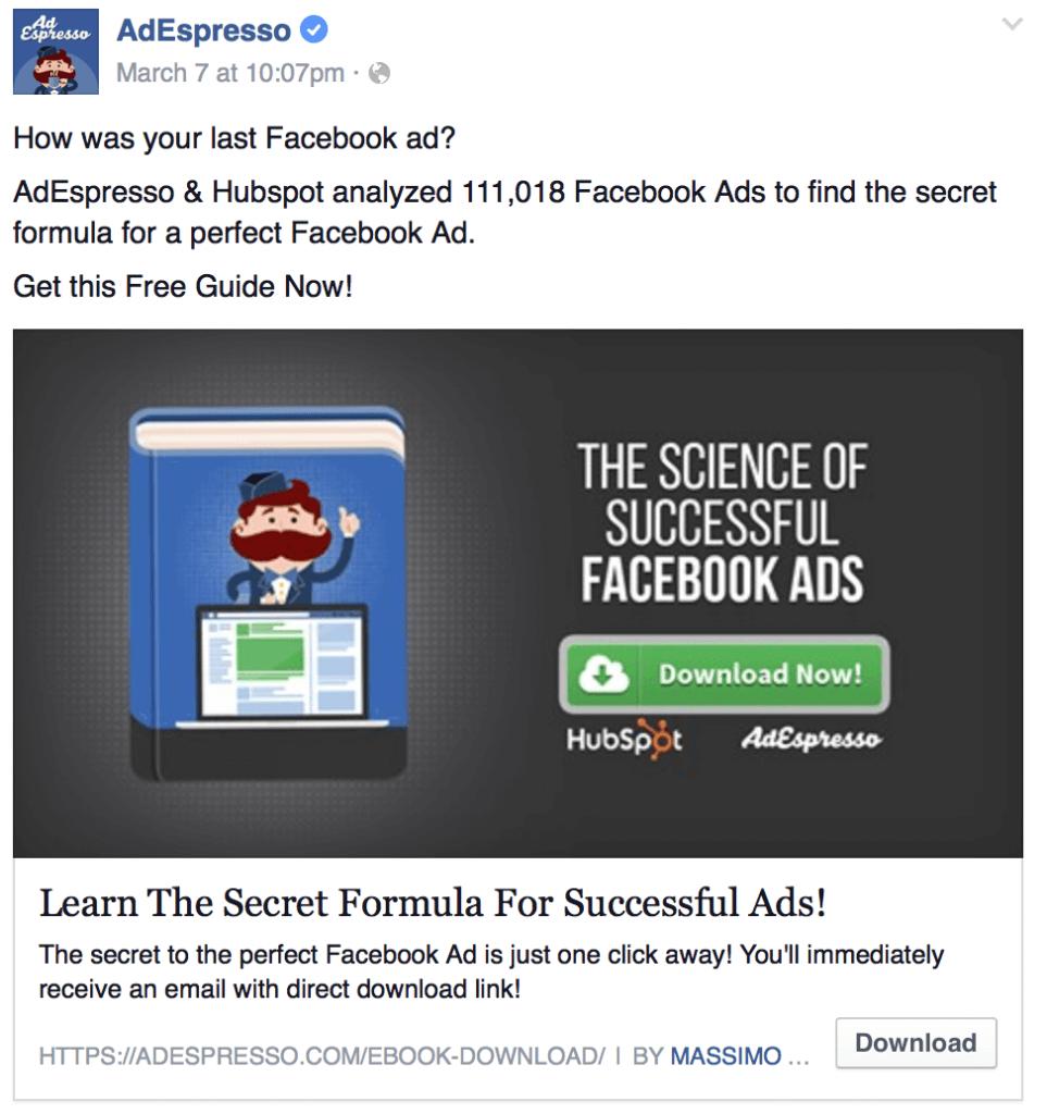 AdEspresso Lead Ad