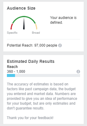 Facebook audiences can be as specific as you need them to be