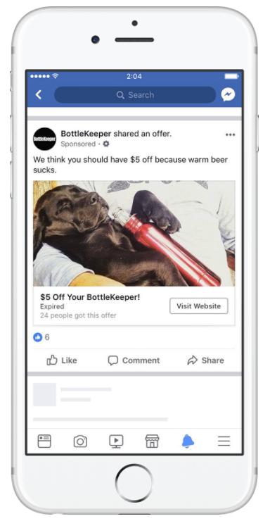 Bottlekeeper offer ad