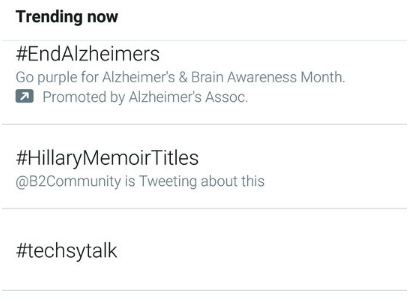 Promoted trends on Twitter