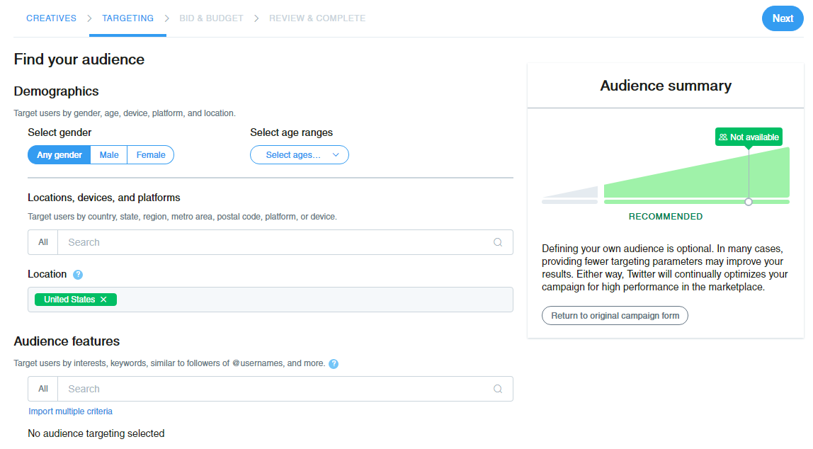Picking and choosing your Twitter advertising audience