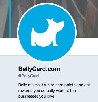 bellycard twitter profile