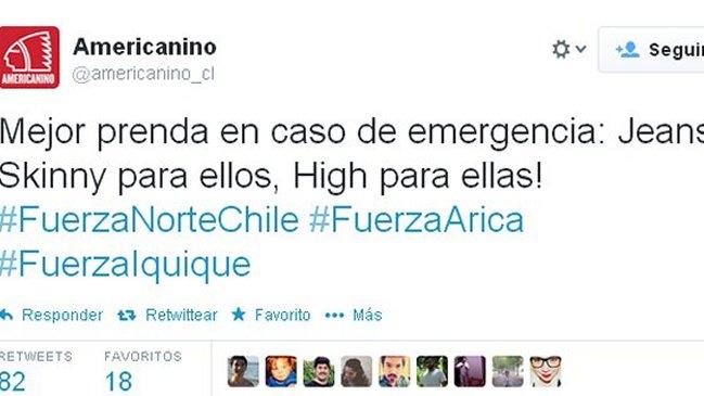 Desafortunado tweet de Americanino.
