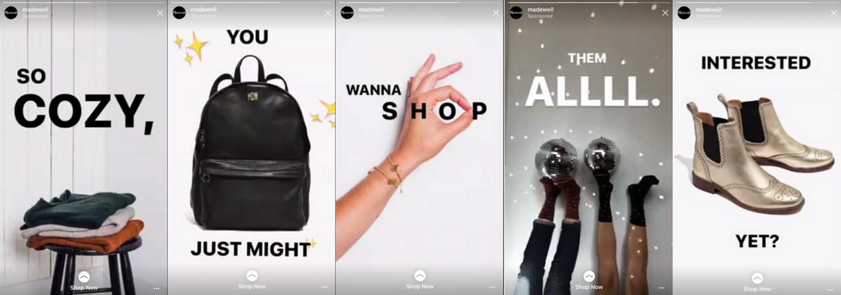 Quảng cáo trên Instagram Stories