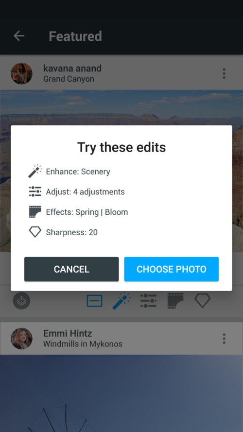 Aviary provides Instagram users with suggestions for editing their photos
