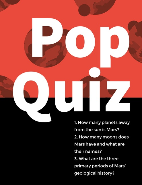 Pop Quiz Adobe Spark template