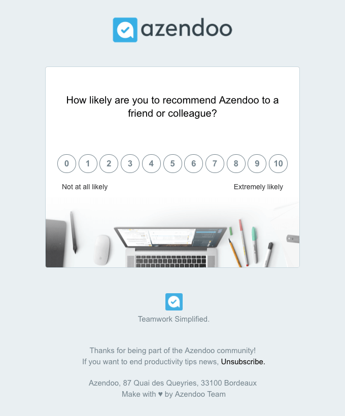 Survey emails can help clue you in on what customers want and expect from you